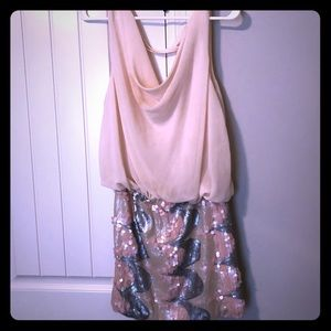 Adorable Sequin skirted Dress